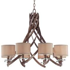 Savoy House Luzon 8-Light Antique Nickel Chandelier