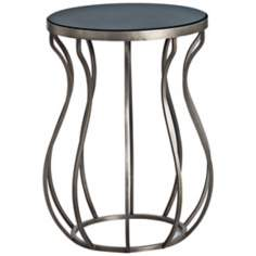 Arteriors Home Olympia Wavy Iron and Marble End Table