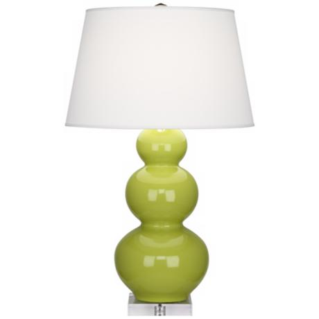 Robert Abbey Triple Gourd Apple Glazed Table Lamp