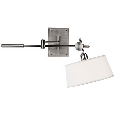 Robert Abbey Rico Espinet Brushed Nickel Boom Plug-In Lamp