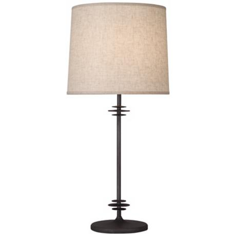 Rober Abbey Janus Phosphatized Iron Table Lamp