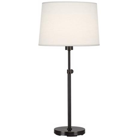 Robert Abbey Koleman Adjustable Deep Bronze Club Table Lamp