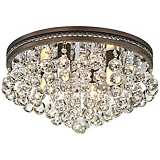 "Regina Olive Bronze 16"" Wide Crystal Ceiling Light"