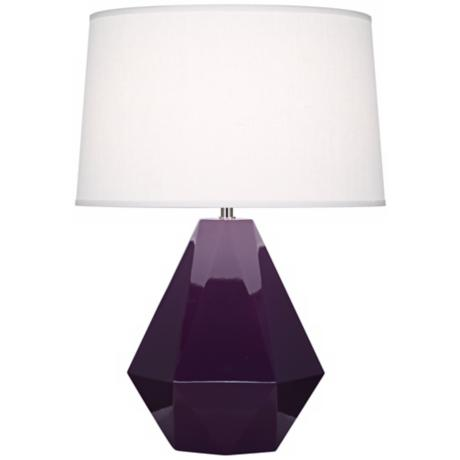 Robert Abbey Delta Amethyst Glazed Table Lamp