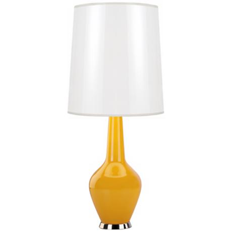Jonathan Adler Capri Yellow Cased GlassTable Lamp