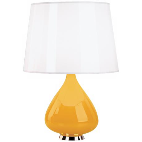 Jonathan Adler Capri Gourd Yellow Cased Glass Table Lamp