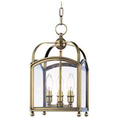 "Hudson Valley Millbrook 8 1/2"" Wide Aged Brass Pendant Light"