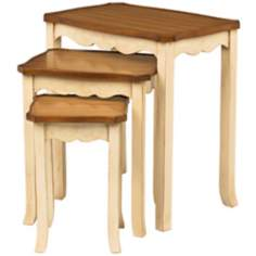 Set of 3 Lancy Two Tone Nesting Tables
