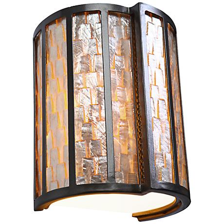"Varaluz Affinity 10"" High Natural Capiz Shell Wall Sconce"