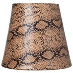 Bronze Reptile Paper Lamp Shade 3.5x5.5x5 (Clip-On)