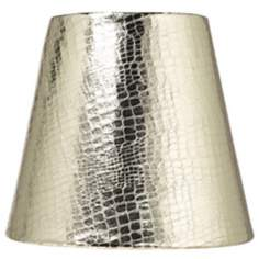 Gold Reptile Paper Lamp Shade 3.5x5.5x5 (Clip-On)