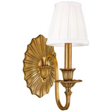 "Hudson Valley Empire Aged Brass 12 3/4"" High Wall Sconce"