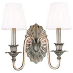 "Hudson Valley Empire Old Nickel 14"" High 2-Light Wall Sconce"