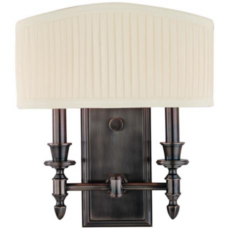 Hudson Valley Bridgehampton Nickel 2-Light Wall Sconce