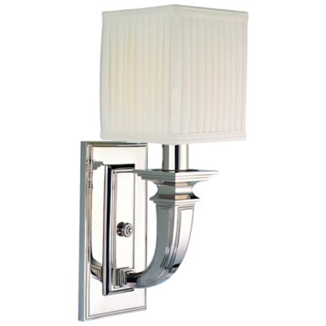 "Hudson Valley Phoenicia Polished Nickel 15"" High Wall Sconce"