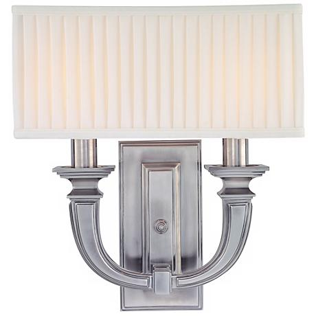 Hudson Valley Phoenicia Historic Nickel 2-Light Wall Sconce