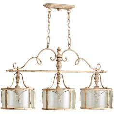 "Quorum Salento 3-Light 42"" Wide White Island Chandelier"