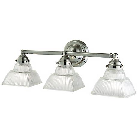 Hudson Valley Majestic Square 3-Light Nickel Bath Fixture