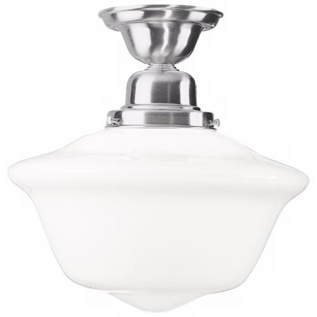 Hudson Valley Edison Satin Nickel Semi-Flush Ceiling Light