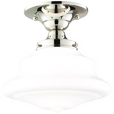 "Hudson Valley Petersburg 9 1/2"" Wide Nickel Ceiling Light"