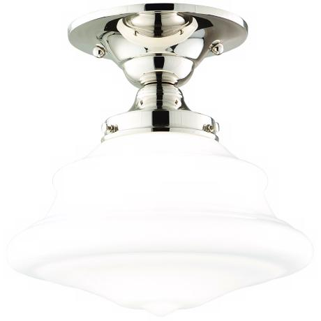 Hudson Valley Petersburg Nickel Semi-Flush Ceiling Light