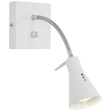 White Paddle Foot Plug-In Halogen Wall Light