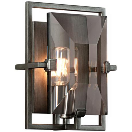 "Prism Collection Graphite 9"" High Wall Sconce"