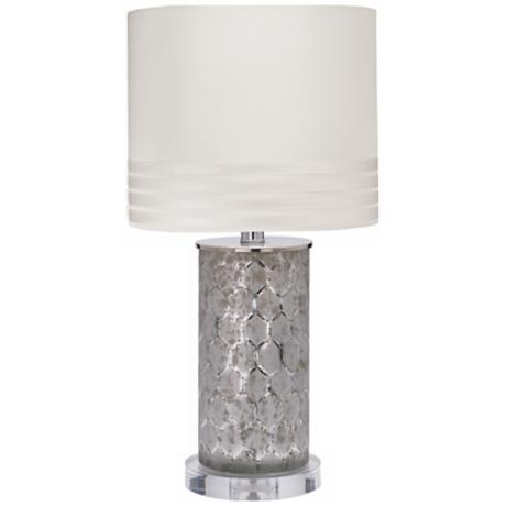 Jamie Young Small Lattice Glass Table Lamp
