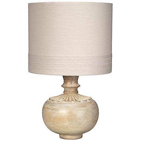 Jamie Young Lotus White Washed Wood Table Lamp