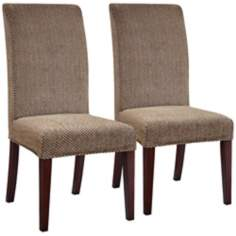 Beth Slipcovered Moore Parsons Armless Dining Chair