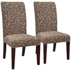 Molly Slipcovered Moore Parsons Armless Dining Chair