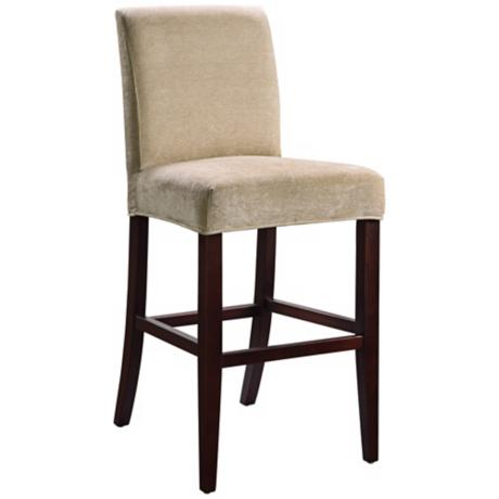 "Emily Slipcovered Monroe Parsons 26"" High Counter Stool"