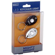 2 Pack Black and Silver LED Key Chain Light
