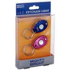 2 Pack Blue and Pink LED Key Chain Light