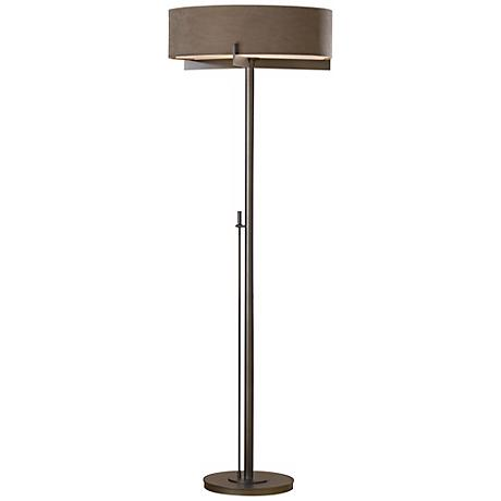 Hubbardton Forge Dark Smoke Finish Axis Floor Lamp