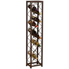 Criss Cross Iron 15-Bottle Wine Tower