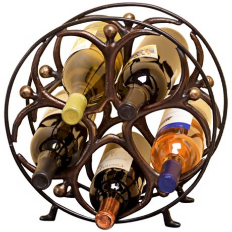 Metal Circle Man Wine Holder