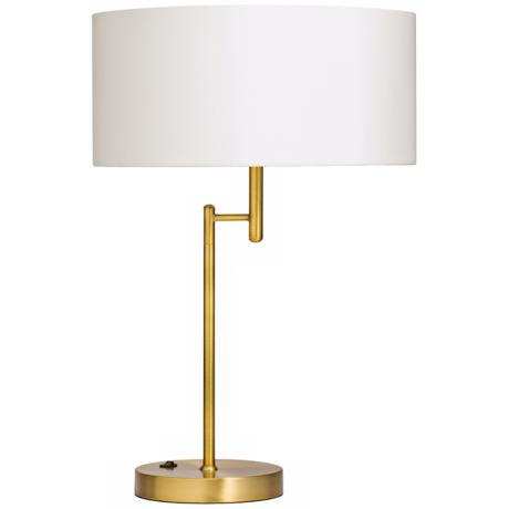 Kichler Ryder Brushed Brass Swing Arm Table Lamp