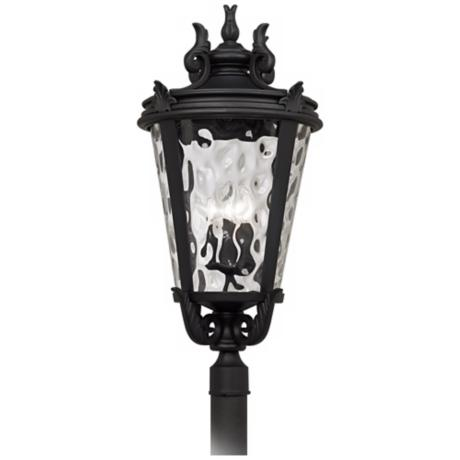"Casa Marseille™ Black 33 1/2"" High Outdoor Post Light"