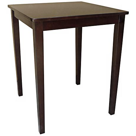 Java Finish Shaker Style Square Counter Height Table