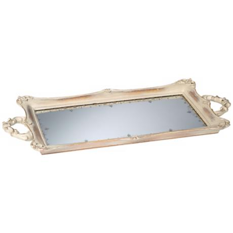 Rectangular Antique Mirrored Tray