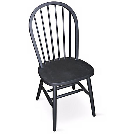 "Windsor Black Finish 37 1/2"" High Spindle Back Chair"