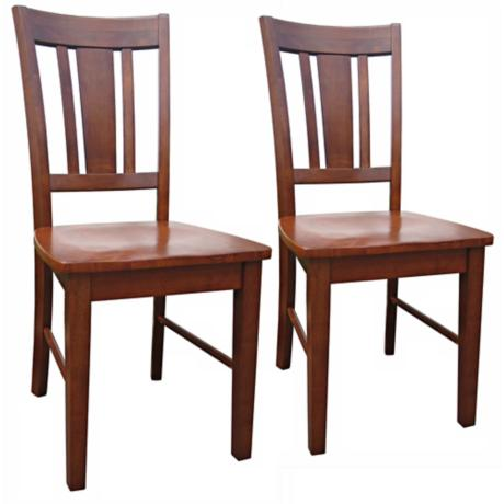 Set of 2 San Remo Cottage Oak Splatback Dining Chairs