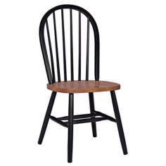 Windsor Black and Cherry Wood Dining Chair