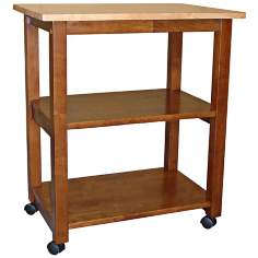 Cinnamon and Espresso Finish Microwave Cart