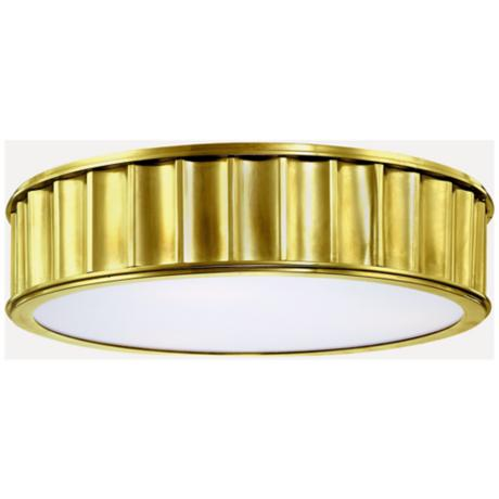 Middlebury Round Aged Brass Flushmount Ceiling Light