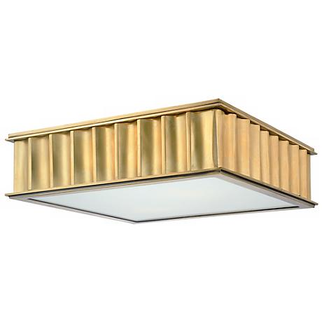 Hudson Valley Middlebury Aged Brass Flushmount Ceiling Light