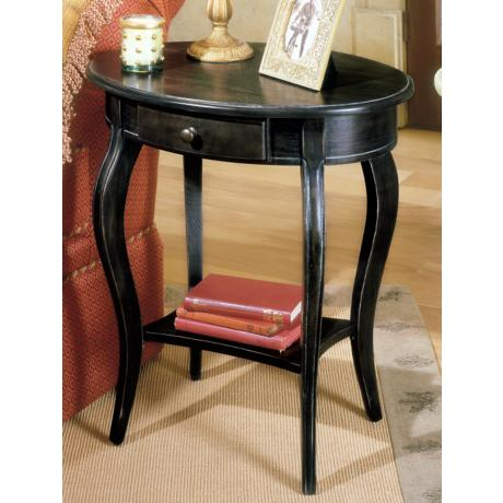 Brushed Sable Oval Accent Table