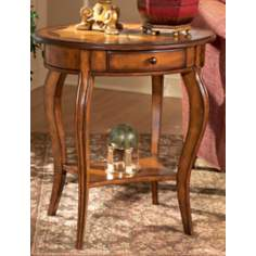 Olive Ash Burl Oval Accent Table