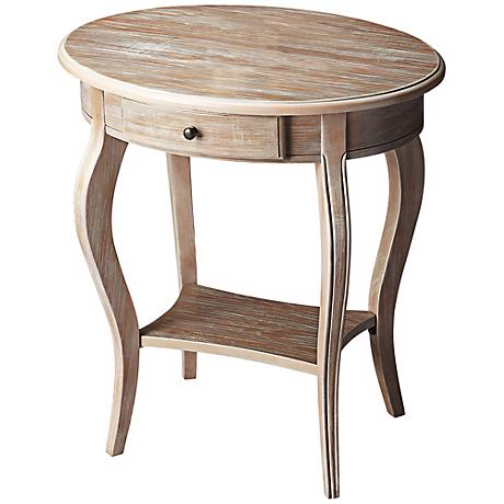Driftwood Oval Accent Table